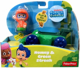 Bubble Guppies Vehicle & Figure Nonny & Green Streak