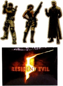 Resident Evil 5 Stickers 5 Inch Character Art Set of 4 Stickers