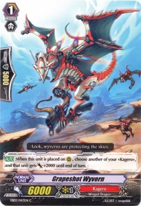 Cardfight Vanguard ENGLISH Cavalry of Black Steel Single Card Common EB03-043EN Grapeshot Wyvern