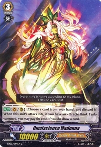 Cardfight Vanguard ENGLISH Cavalry of Black Steel Single Card Common EB03-044EN Omniscience Madonna