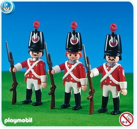 Playmobil Figures Set #7675 3 Redcoat Soldiers