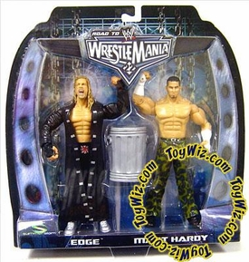 WWE Summer Slam Road to Wrestlemania 22 Series 1 Action Figure 2-Pack Matt Hardy vs. Edge Damaged Package, Mint Contents!