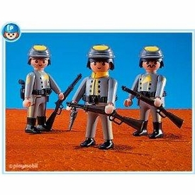 Playmobil Figures Set #7046 3 Rebel Soldiers