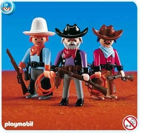 Playmobil Figures Set #7273 3 Cowboys