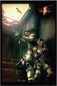 Resident Evil 5 Poster Against A Wall