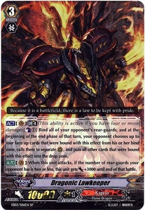 Cardfight Vanguard ENGLISH Cavalry of Black Steel Single Card SP Rare EB03-S06EN Dragonic Lawkeeper