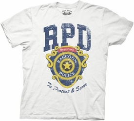 Resident Evil Adult T-Shirt RPD To Protect And Serve