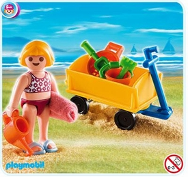 Playmobil Special Set #4755 Girl with Beach Wagon