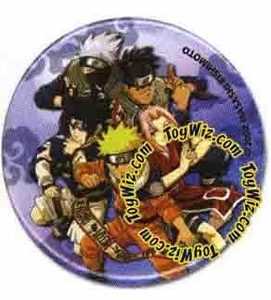 Naruto Accessories Official Button Naruto Group Pose