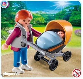 Playmobil Special Set #4756 Mom with Baby Carriage