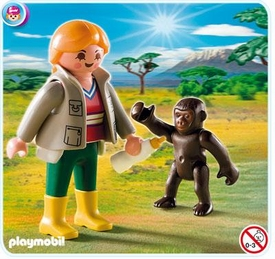 Playmobil Special Set #4757 Zookeeper with Baby Gorilla
