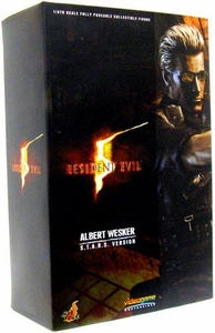 Resident Evil 5 Hot Toys Video Game Masterpiece Resident Evil 5 12 Inch Deluxe Figure Albert Wesker [S.T.A.R.S. Version] Damaged Package, Mint Contents!