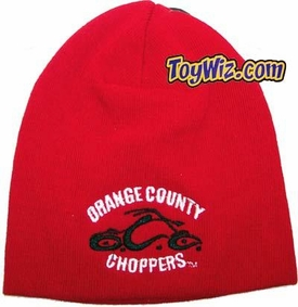 Orange County Choppers OCC Bean Red Bean w/ Black & White Logo