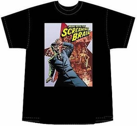 The Man With The Screaming Brain T-Shirt (Men's L) BLOWOUT SALE!