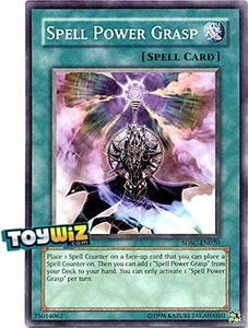 YuGiOh 5D's Spellcaster's Command Single Card SDSC-EN020 Spell Power Grasp