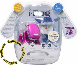 Interactive Pet iDog iPod I-Dog [Pink] with Purple Chill Outfit & Jewels