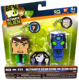 Ben 10 Ultimate Alien AlterAlien 2.5 Inch Transforming Figures Ben to Rath & Echo Echo to Ultimate Echo Echo