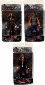 NECA Twilight Eclipse Movie Series 1 Set of 3 Action Figures [Edward, Jacob & Victoria]
