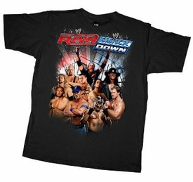 Official WWE Wrestling Superstars Adult T-Shirt Raw/Smackdown WWM114