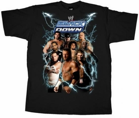 Official WWE Wrestling Superstars Adult T-Shirt Smackdown