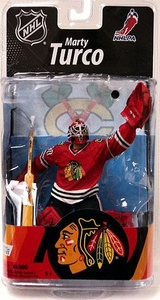 McFarlane Toys NHL Sports Picks Series 27 Action Figure Marty Turco (Chicago Blackhawks) Red Jersey