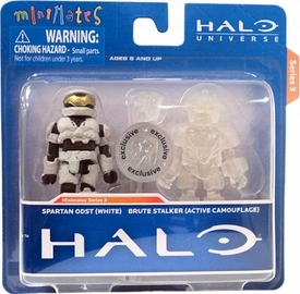 Halo Minimates Exclusive Series 3 Mini Figure 2-Pack Spartan ODST (White) & Brute Stalker (Active Camouflage)