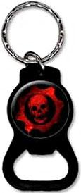 NECA Gears of War Keychain Red Skull Bottle Opener [Red Symbol]