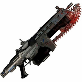 NECA Gears of War Exclusive 36 Inch Deluxe Prop Replica Lancer [Bloody Version]