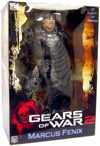 NECA Gears of War Deluxe 12 Inch Action Figure Marcus Fenix #2[LED Light Up Armor!]