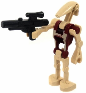 LEGO Star Wars LOOSE Mini Figure Battle Droid Security with Markings & Blaster [Version 2]