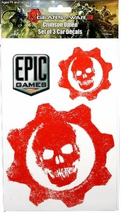 Gears of War 3 Car Decals Crimson Omen [Set of 3]