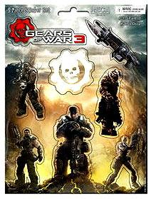 Gears of War 3 8 Piece Sticker Set