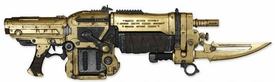 NECA Gears of War 3 Exclusive 36 Inch Deluxe Prop Replica GOLD Retro Lancer