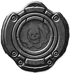 NECA Gears of War 3 Belt Buckle Omen Armor