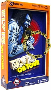 McFarlane Toys Pop Culture Masterworks 3-D Wall Hanging Elvis On Tour