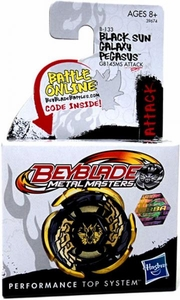 Beyblades Metal Fusion Attack Battle Top #B133 LIMITED EDITION Black Sun Galaxy Pegasus [GB145MS]