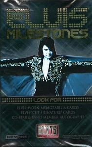 Elvis Presley Press Pass Milestones Trading Card Pack [5 Cards]
