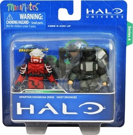 Halo Minimates Exclusive Series 4 Mini Figure 2-Pack Spartan Hayabusa (Red) & ODST (Rookie)