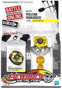 Beyblades Metal Fury Defense Battle Top #BB-P01 Vulcan Horuseus