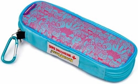 AllerMates EpiPen or AuviQ Allergy Medicine Carrying Case:  Pink/Blue Pattern