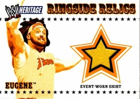 Topps WWE Heritage Trading Cards Ringside Relics Authentic Event Worn Shirt Eugene