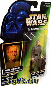 Star Wars POTF2 Power of the Force Hologram Card Grand Moff Tarkin w/ Imperial Issue Blaster Rifle and Pistol