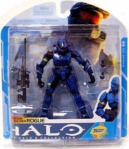 Halo 3 McFarlane Toys Series 7 Action Figure BLUE Spartan Soldier Rogue COLLECTOR'S CHOICE!