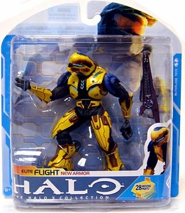 Halo 3 McFarlane Toys Series 7 Action Figure YELLOW Elite Flight