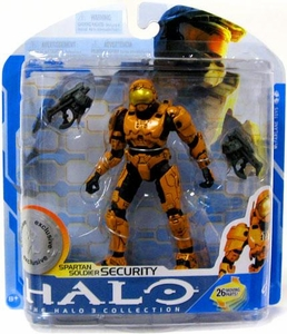 Halo 3 McFarlane Toys Series 7 Exclusive Action Figure ORANGE Spartan Soldier Security