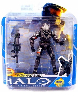 Halo 3 McFarlane Toys Series 7 Exclusive Action Figure STEEL Spartan Soldier Hayabusa