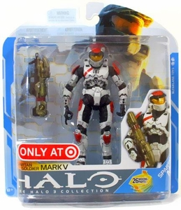 Halo 3 McFarlane Toys Series 7 Exclusive Action Figure WHITE Spartan Soldier Mark V
