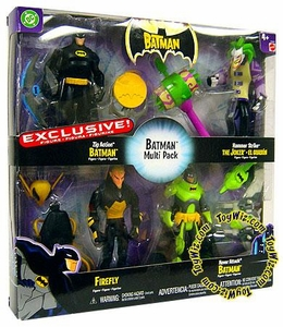 The Batman Exclusive Action Figure 4-Pack [Zip Action Batman, Hammer Strike Joker, Firefly, & Hover Attack Batman]
