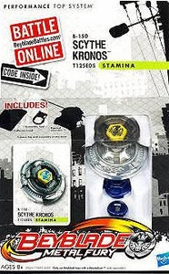 Beyblades Metal Fury Stamina Battle Top #B150 Scythe Kronos