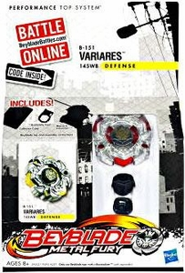 Beyblades Metal Fury Defense Battle Top #B151 VariAries